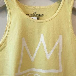 Ripple Junction Shirts - Basquiat Tank Top Yellow Medium NWT